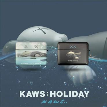 カウズブランドairpods pro1/2ケースかわいいKAWS エアーポッズケース収納 頑丈 軽量airpods 3 proケース持ち便利  おしゃれ 男女兼用
