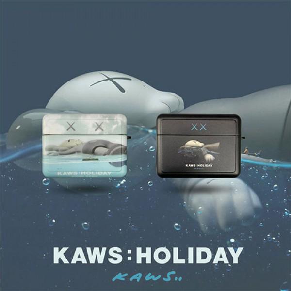 カウズブランドairpods pro1/2ケースかわいいKAWS エアーポッズエアーポッズ収納 頑丈 軽量airpods proケース持ち便利  おしゃれ 男女兼用