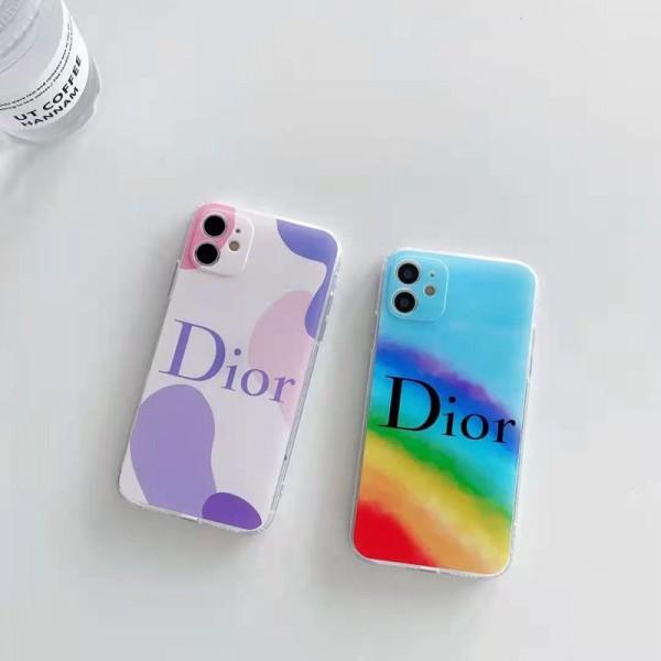 ディオールブランドiphone 12/12 pro/12 pro max携帯ケースカラフルおしゃれiphone 11/11 pro/11 pro maxケースDiorファッション韓国風iphone x/xs/xs max/8/7plus保護カバー
