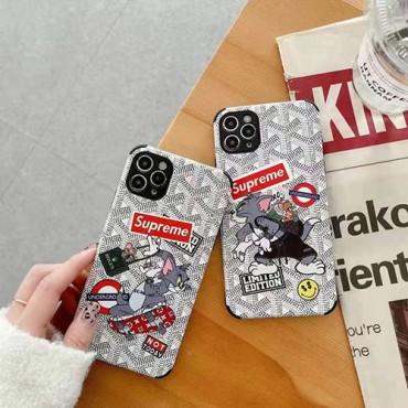 シュプリーム男女兼用ブランドiPhone12/12pro/12mini/12pro maxケースアニメ風トムキャット iphone11/11pro max/11 proケースゴヤールかわいいiphone x/xs/xs maxケース高級 人気iphone se2/8/7plusケース