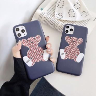 バーバリーブランドiphone12/12pro max/12pro/12miniケースかわいいクマ柄iphone11/11pro max/11proケース高級感人気iphone x/xs/xr/xs maxケース激安iphone se2/8/7plusケース