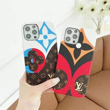 ハイブランドルイヴィトンiphone12/12pro max/12pro/12miniケース潮流 個性ポーカー柄iphone13/11/11pro maxケースLVクラシックプリントiphone x/xr/xs maxケース高品質なレザーiphone se2/8/7plusケース