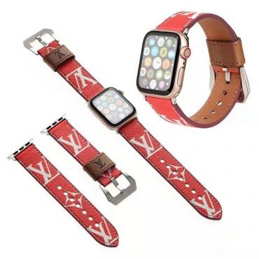 ブランドルイヴィトンファッションアップル ウォッチバンド高品質なレザーapple watch6/seベルト通販 経典プリントアップル ウォッチストラップ
