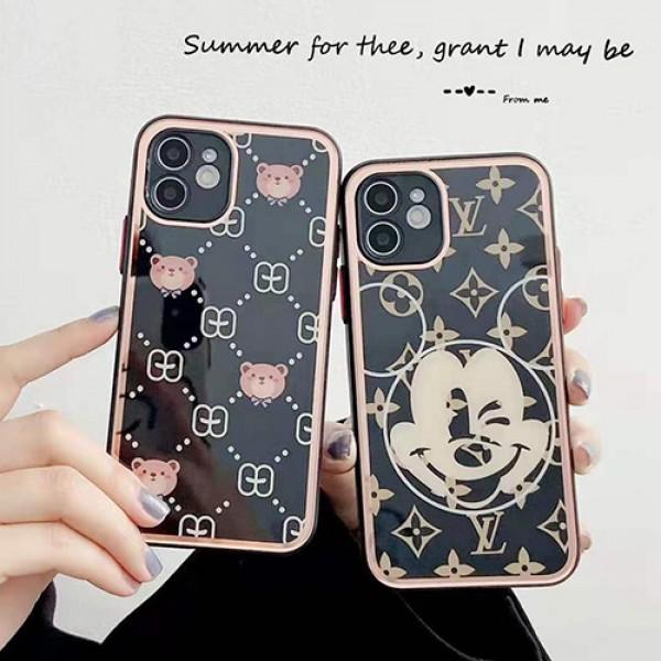 ルイヴィトンブランドかわいいiphone12/12pro max/12pro/12mini/13ケースGucciおしゃれ熊柄iphone11/11pro max/12Sケース光沢のある人気iphone xs/xr/xs maxケース ファッションiphone 11pro/x/se2/8/7plusケース