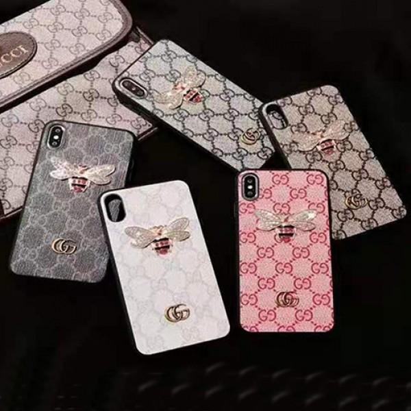グッチハイブランドiphone12/12pro max/12pro/12mini/12Sケースキラキラ蜂柄iphone13/11/11pro maxケースGG金具ロゴ付きiphone x/xr/xs/xs maxケースレディースiphone se2/8/7plusカバー
