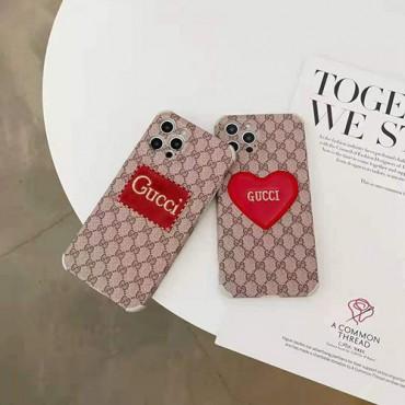 ハイブランドグッチiphone12/12pro max/12pro/12mini/13ケース赤いハート柄ファッションアイフォン11/11pro max保護ケース高級感人気iphone x/xs/xs maxケース男女兼用iphone 11pro/xr/se2ケース