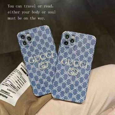 グッチブランドiphone12/12pro max/12pro/12mini/13ケースGucci刺繡ロゴファッションiphone11/11pro max/11proケース高級感人気iphone x/xr/xs/xs maxケース男女兼用