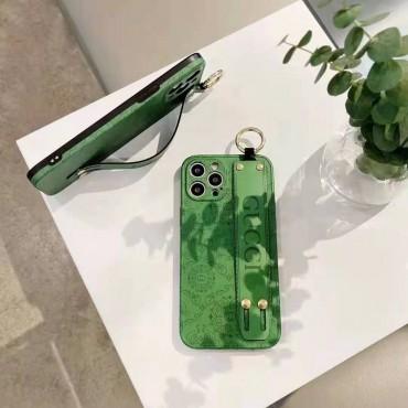 グッチブランドファッションiphone12/12pro max/12pro/13ケースグリーンスマホケース男女兼用iphone11/11pro maxケースハンドベルト付きiphone x/xr/xs/xs maxケース携帯便利 HUAWEI Mate 30/30pro/40/40proケース