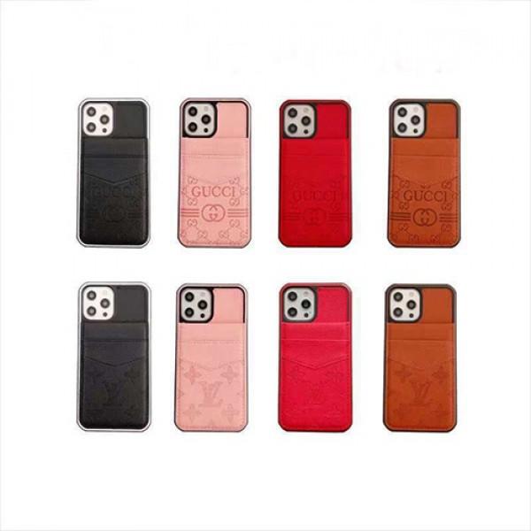 グッチブランドiphone 13/12ケース ファッションカードポケット付きヴィトンiphone 12pro max/12pro/12miniケース多機能 人気iphone 11/11pro maxケースビジネス潮流iphone x/xr/xs maxケース