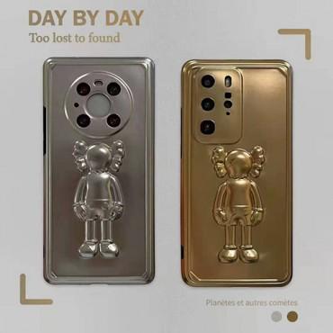 カウズかわいいiphone13/12/12pro max/12proケースブランドパロディ風 潮流 個性iphone11/11pro maxケースメタリック塗装Huawei mate40/mate40proケース安い