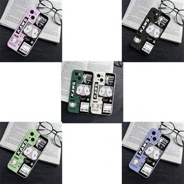 カウズブランドiphone13ケース可愛いKawsキャラクター絵柄iphone13miniケースレディースメンズ高級感アイフォンケース