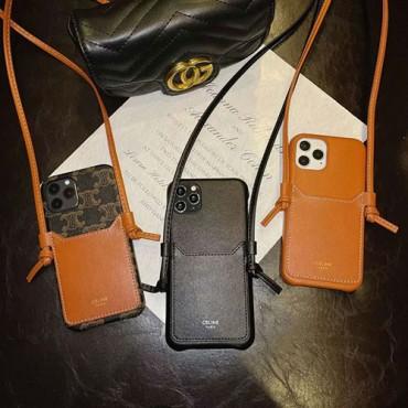 セリーヌファッションシンプル iphone 12/12 pro/12mini/8/7 plusケース男女兼用人気iphone11/11 pro/11 pro max ビジネス ストラップ付き個性潮 iphone x/xr/xs/xs maxケース