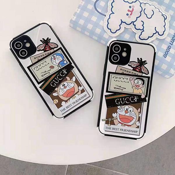 グッチハイブランドiphone12/12pro max/12mini/12proケースかわいいポコニャン絵柄iphone11/11pro maxケース男女兼用 個性iphone11pro/xr/xs max/se2/8/7plus携帯カバー