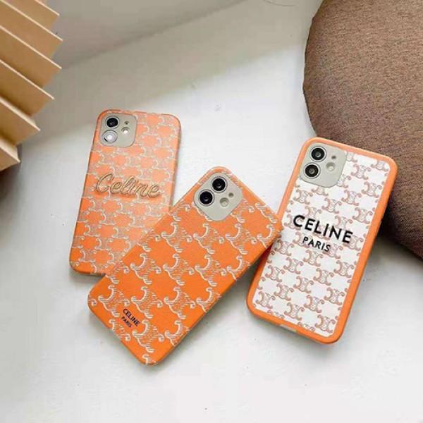 セリーヌハイブランドiphone12/12 pro max/12 mini/12 proケースレディース向けおしゃれiphone11/11pro/11pro maxケースCeline定番プリント iphone x/xs/xs max/se2/8plus携帯ケース