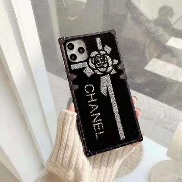 シャネルファッションiphone12/12 pro max/12 mini/12 proケースブランドパロディ風Chanelツバキシリーズiphone11/11 pro maxケース個性鏡面iphone xr/xs/xs max/11proケース韓国風