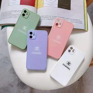 シャネルブランドiphone12/12 pro max/12 mini/12 proケース夏マカロンガラスiphone11/11pro maxケースファッション個性iphone x/xs/xs max/8/7plusケース高級