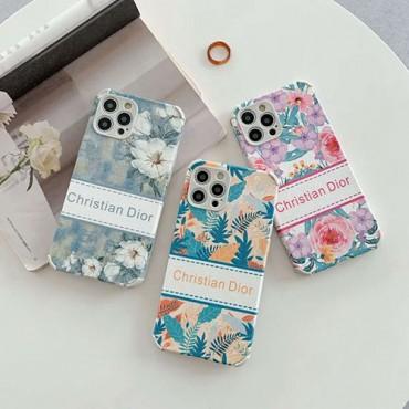 Diorディオールおしゃれiphone12/12pro max/12mini/12proケースハイブランド子羊の皮シリーズスマホケースiphone11/11pro maxケースファッション花柄iphone x/xs/xs max/8/7plusケース