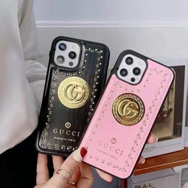 グッチおしゃれiphone12/12pro/12mini/12pro maxケースブランドパロディ風盾リベットiphone11/11pro/11pro maxケースレディースファッションiphone x/xs/xs/max/se2/8/7plus保護ケース