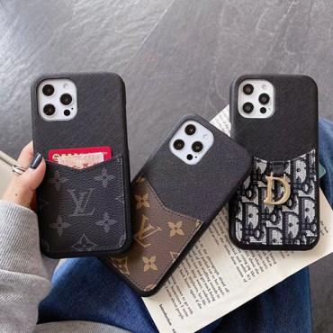 ルイヴィトンブランドシンプルiphone13/13pro max/13pro/13minケースディオールカードポケット付き iphone12/12pro max/12 pro/12 miniケースビジネス潮流iphone11/11pro maxケースブランド