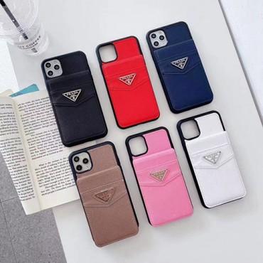 プラダブランドiphone13/13mini/13pro maxケースファッションカードポケット付きiphone12/12pro/12pro maxケース収納レディースメンズiphone11/11pro max/11 proケース人気スマホケース