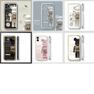 Bearbrickブランドiphone13/13pro maxケースかっこいいキャラクターiphone13pro/13miniケース潮流 透明シリコンiphone13pro maxケース人気