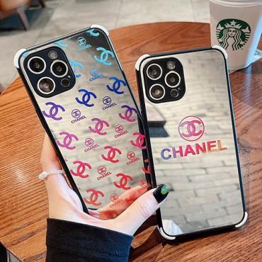 ブランドシャネルiphone13/13pro max/13pro/13miniケース光沢感ガラスファッション iphone12/12pro/12mini/12pro maxケースChanel全面保護 耐衝撃iphone11/11pro max/11proケース