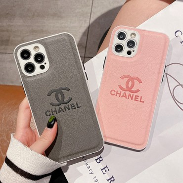 シャネルブランドiphone13/13pro/13mini/13pro maxケースグレー ピンクカラーシンプルiphone12/12pro/12pro max/12miniケース男女兼用人気iphone11/11pro max/11proケースファッション