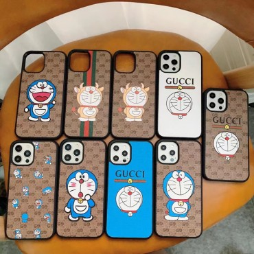 ブランドグッチアイフォン13ケースかわいいドラえもん連名iphone13pro/13mini/13pro maxケースGucci定番プリントiphone12/12pro/12mini/12pro maxケース男女兼用iphone11/11pro max/11proケース
