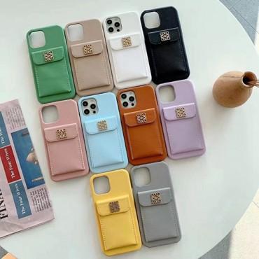 ロエベブランドiphone13/13mini/13pro max/13proケースカードポケット付きレディースiphone12/12mini/12pro/12pro maxケース豊か色選択おしゃれiphone11/11pro max/11proケース大人気
