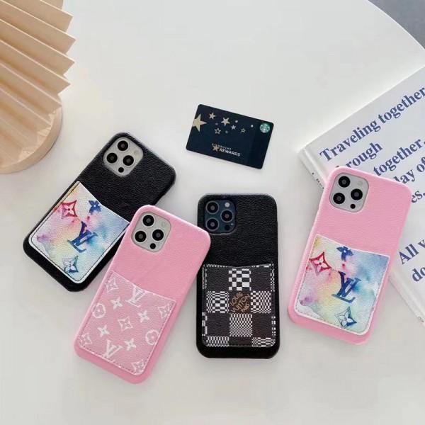 ルイヴィトンハイブランドiphone13/13mini/13pro/13pro maxケースファッションカードポケット付きiphone12/12pro/12mini/12pro maxケースグッチ経典プリント収納iphone11/11pro max/11proケースブランド