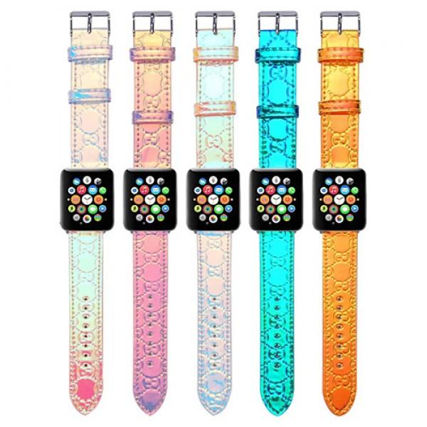 グッチブランドアップル ウォッチ 7ベルトファッションラジウム革 apple watch 4/5ストラップ バンドGucci 光沢感あるップル ウォッチ se 6交換バンド