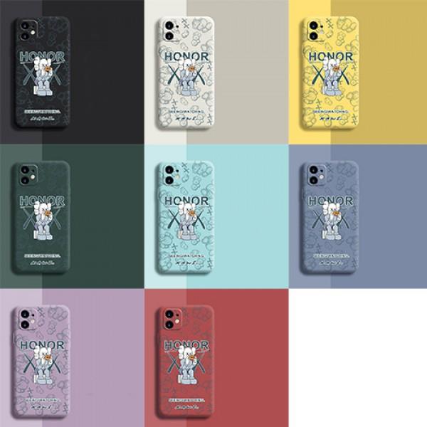 ブランドカウズアイフォン13ケースかわいい KAWS キャラクターiphone13 proケースカラフルおしゃれシリコンiphone13pro maxケース男女兼用