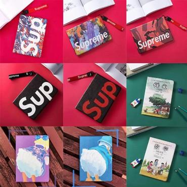 シュプリームブランドipad pro11インチ2020ケースファッション高品質レザーipad 5/6/7/8カバーカウズ かわいい ipad air 1/2/3/4ケース