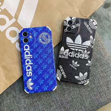 アディダスファッション iphone 12/12pro max/se2ケースメンズレディース兼用 iphone xr/xs maxケースオシャレ adidas 刺繍 iphone 11/11 pro/11 pro maxケース 運動風 アイフォンX/8/7 plusケースブランド