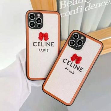セリーヌ ブランド可愛い風iphone 12/12 Pro/12 Pro Maxケース 女性向け Iphone11/11pro Maxケースファッション セレブ愛用iphone x/xs/xs maxケース蝶結び模様 iphone se2/8/7plusケース