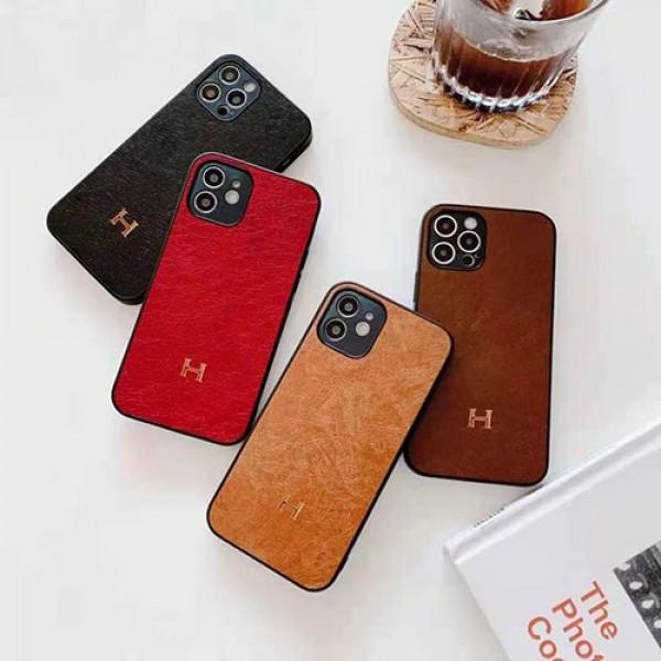エルメス ブランド iphone12 mini/12pro max/12 /12  proケース 経典金具ロゴiphone11/11pro maxケースシンプル小牛紋レザーiphone x/xs/xs max ケースファッションiphone se2/8/7 plusケースブランド