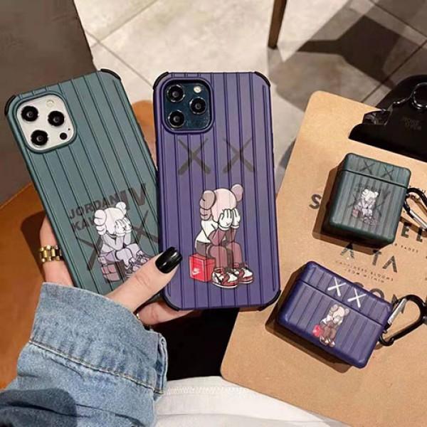 カウズ ブランドiphone12/12pro/12pro maxケース高級感人気 iphone 11 /11 pro/11 pro max/xs/xs maxケースかわいい Air Pods Proケース耐衝撃Air Pods1/2/3保護ケース