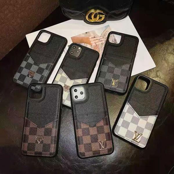 ルイヴィトン ブランドレザーiphone 12/12pro max ケース簡約 iphone xr/xs/xs Maxケース コピーブランド カードポケット付き iphone 11/Se2/8/7/6plusケース 人気 耐久性