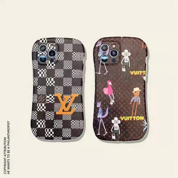 ルイヴィトンブランド iphone12/12pro max/12 proケース老花経典漫画iphone 11/11pro/11 pro maxケース ファッションLV風カバー オシャレ高級ブランドiphone xs/xs max/8/7plus保護ケース