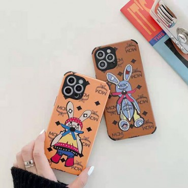 エムシーエム おしゃれブランド iphone 12/12 pro/12 pro maxケース ウサギ可愛い iphone11/11pro maxケース個性潮流 iphone x/xr/xs/xs maxケース 韓国風芸能人愛用ブランド