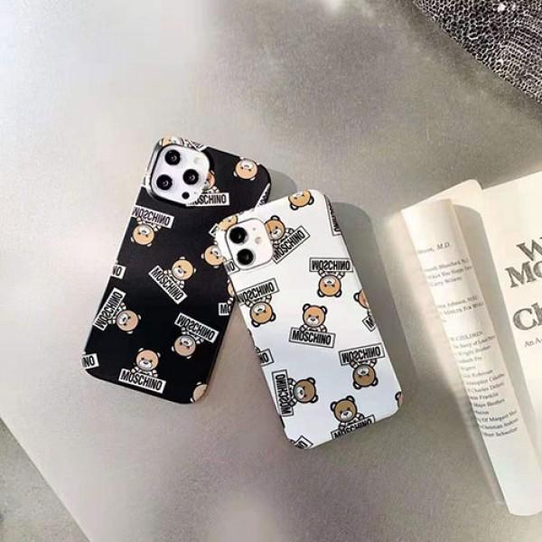 モスキーノ ブランドクマ柄 iphone 12/12 pro/12 mini/12 pro maxケース シンプルパロディiphone 11/11pro/11 pro maxケース 新品可愛いiphone xs/x/7/8 plus/se2ケース 高級 感おすすめ