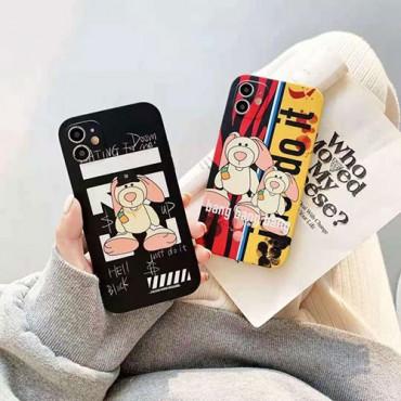 オフ-ホワイトかわいい iphone 12 pro/12 pro max/12 mini/12ケース ペアお揃い iPhone 11/11 pro/xr/xs max/xsケース ファッションins風 iphone x/8/7/se2スマホケース ブランド 創意