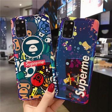 シュプリーム ブランドパロディ風iphone 12 /12 pro/12 mini/12 pro maxケース ステューシー 耐衝撃Galaxy s10/s20+/s20 ultraケースおしゃれ HUAWEI Mate 30 Pro 5G保護ケース