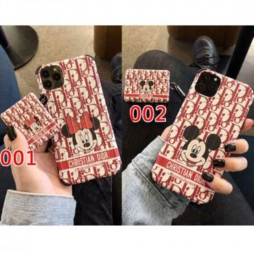 ディオール ディズニー iphone12/11 pro/11 pro max/se2  AirPods pro1/2ケース ミニーミッキー ブランド 韓国 かわいい Dior エアーポッズ ケースプロ1/2ケース 高級 大人気アイフォンx/xs/xr/8/7カバー TPU