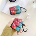 シュプリーム/supreme  airpods pro1/2ケース 韓国  ブランド かわいい ガラス エアー ポッズ1/2ケースおしゃれ カップル 高校生 人気 インスタグラム風 送料無料 激安 インスタグラム風