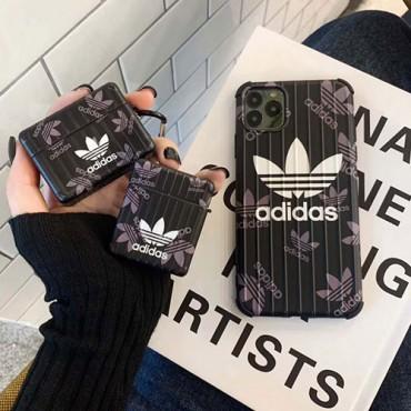 アディダス iphone12/11/11 pro/11 pro max/se2ケース airpodspro1/2ケース  衝撃 人気 adidas アイフォンx/xs/xr/8/7カバー エアーポッズ 1/2ケース新型 おしゃれ 韓国 レデイーズ メンズ ブランド