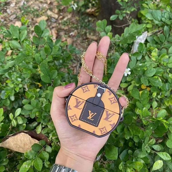 ルイヴィトン airpods pro1/2ケース カップル  高級 ブランド カバン型 ストラップ付き  通用  LV エアーポッズ 1/2プロケース シリコン 個性 芸能人 レデイーズ バッグ型 韓国風 おすすめ