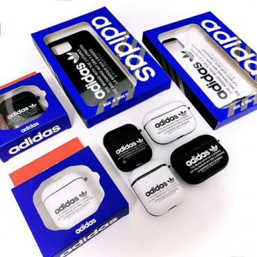 アディダスiphone12/11 pro/11 pro max/se2ケース airpodspro1/2ケース ブランド  韓国 三つ葉  adidas アイフォンx/xs/xr/8/7カバー エアーポッズ 1/2ケース  かわいい  スポーツ風 レデイーズ メンズ