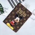 ディズニー ミッキーマウス コラボ ルイヴィトン Gucci IPad Air 4 10.8inch/IPad 8 10.2インチ  磁気吸着 スリム 軽量 シルク手触り 高級感 Lv ブランド風 全面保護タイプ 赤 極薄軽量 落下衝撃保護