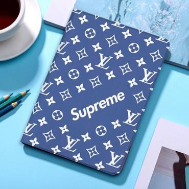 ルイヴィトン シュプリーム  コラボ  iPad air 4 10.8inch/iPad 8 10.2inch 2020ケース ブランド メンズ レディース  LV 激安 Supreme 手帳型カバー パロディ アイパッド エアケース 高級感  韓国 おしゃれ